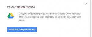 google drive app error